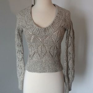 Limited Oatmeal Low V Sweater